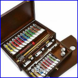 Royal Talens Rembrandt Oil Colour Box Master Gold Edition in Wooden Chest