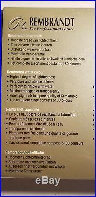 Royal Talens Rembrandt Water Colour Box Set 48 color Artists Quality watercolour