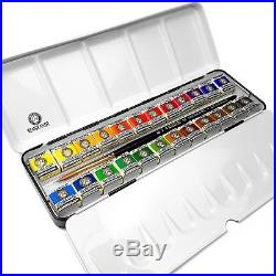 Royal Talens Watercolour Paints Set Metal Box of 24 Pans Professional Set