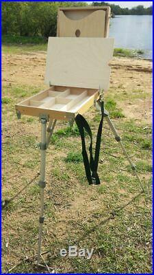Russian Easel Wooden Sketch Box Portable Art Paint Podolsk Big size tripod