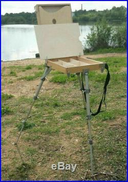 Russian Easel Wooden Sketch Box Portable Art Paint Podolsk Medium size tripod
