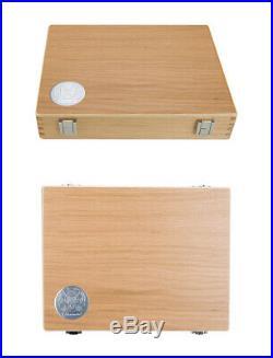 SCHMINCKE Horadam Artists Watercolor 50 Half Pans Wooden Box Set 74790