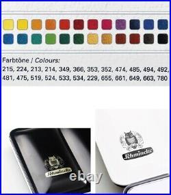 SCHMINCKE Horadam Artists Watercolour 24 Whole Pans Metal Box Set 74324097
