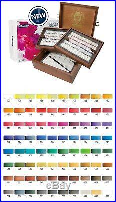 SCHMINCKE Horadam Artists Watercolour 80 Half Pans Wooden Box Set 74767