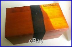 SENNELIER Artist Watercolor Tubes Wood Box Set w Porcelain Palette Raphael Brush