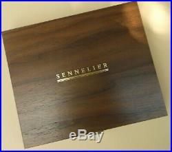 SENNELIER Watercolor Luxury Walnut Wood Box Set Raphael Brush Porcelain Palette