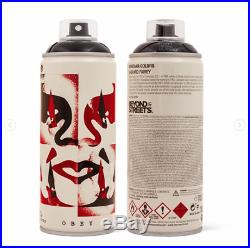 SET (3) OF SHEPARD FAIREY LIMITED EDITION MONTANA SPRAY CANS Signed Boxes