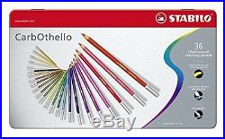STABILO CarbOthello Metal Box of 36 colours Chalk-pastel coloured pencil
