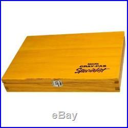 Sakura Cray-pas Premium Artist Quality Oil Pastels, 88 Piece Wood Box Set