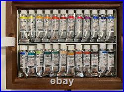Schmincke Horadam Aquarell 5ml Paint Tube Set in Wooden Box, Set of 24 Colors