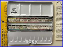 Schmincke Horadam Aquarell Half-Pan Paint Metal Set, Set of 24 Colors Open Box