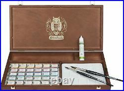 Schmincke Horadam Artists Watercolour 30 Whole Pan Wooden Box Set 74748097