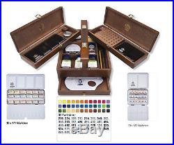 Schmincke Horadam Artists Watercolour Whole & Half Pan Wooden Box Set 74724097