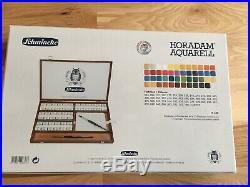 Schmincke Horadam Watercolor Wooden Box Set 48 Full Pans