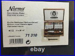 Schmincke Norma Professional Finest Artist's Oil Colors Paint Wooden Box Set