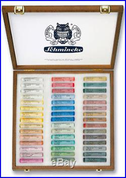 Schmincke Soft Pastel Set 45 Colours Wooden Presentation Box Set