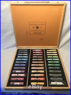 Sennelier 36 Grand Soft Pastels wooden box set Excellent condition
