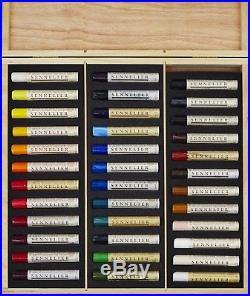 Sennelier Artist Oil Stick Wooden Box Set 36 x 38ml Paint Sticks