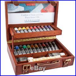 Sennelier Artist Professional Oil Paint Wooden Box Set 22x40ml Tubes +Accesories