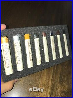 Sennelier Artist Quality Oil Sticks Wood Box Set Of 24. Used. Good Condition