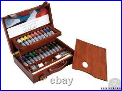 Sennelier Artists Finest Oil Colour 22 x 40ml TUBE DELUXE WOODEN BOX GIFT SET