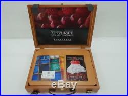 Sennelier Artists' Quality Acrylic Wooden Box Set