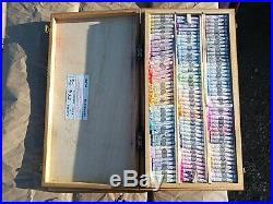 Sennelier Extra Soft Pastel Deluxe Wood Box Set of 516 Sticks & 4 Trays VINTAGE