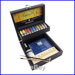 Sennelier French Artists' Watercolor Wooden Box Set