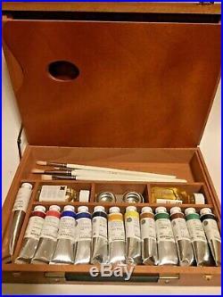 Sennelier Impressionist Oil Paint Set with Wood Box FRANCE PAINTS UNUSED