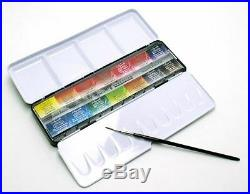 Sennelier L'Aquarelle Artists Watercolour 14 Full / Whole Pan Metal Box Set