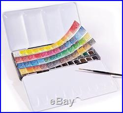 Sennelier L'Aquarelle Artists Watercolour 48 Half Pan Metal Box Set