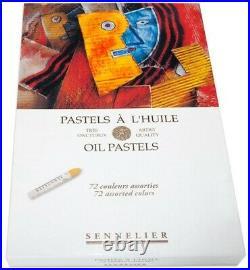 Sennelier Oil Pastels Cardboard Box Set of 72 Standard Assorted Colors