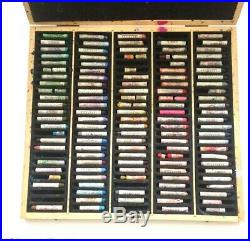 Sennelier Oil Pastels in Wooden Box Preowned 115 colors