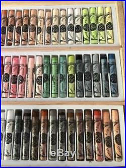Sennelier Paris Extra Soft Pastels Wooden Box Set of 75 Colors pre owned