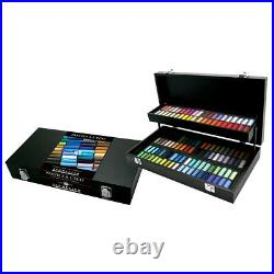 Sennelier Soft Pastel Black Wood Box Set of 120 Half Sticks