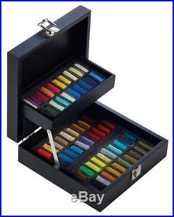Sennelier Soft Pastels Professional Artists Pastels 60 Black Wooden Box