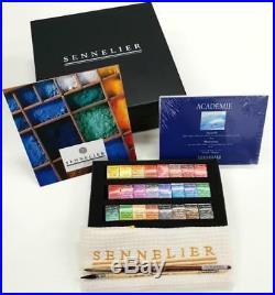 Sennelier Watercolor Half-Pan Wooden Box Set
