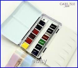 Sennelier Watercolor Metal Box 12 Half Pan Set