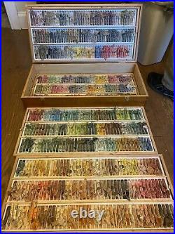 Sennelier extra soft pastels Used set of 524 in wooden box