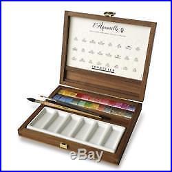 Sennelier l'Aquarelle Extra Fine Watercolor Walnut Box Set