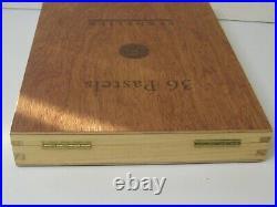 Sennelier oil pastels 36 in wooden box, brand new in open box