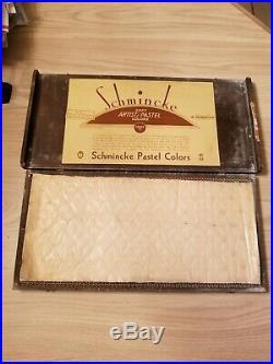 Set Of 60 Vintage Schmincke/grumbacher Artists Pastels In Box Landscape Edition
