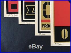 Shepard Fairey Supply And Demand 20th Anniversary Box Set, 4 S/N Prints, Banksy