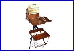 Sienna Plein Air Artist Pochade Box Easel Large Adjustable Canvas Holder Artist