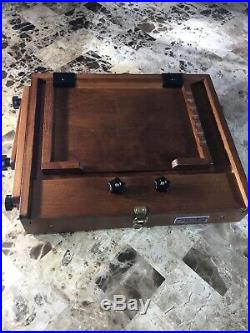 Sienna Plein Air Artist Pochade Box Easel Large with Glass Palette