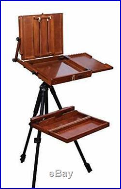 Sienna Plein Air Pochade Box Artists Adjustable Easel and Palette Box Art Supply