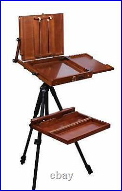 Sienna Plein Air Pochade Box Artists Adjustable Easel and Palette Box CT-PB-0