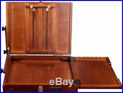 Sienna Plein Air Pochade Box, Artists Adjustable Easel and Palette Box Medium
