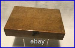 Small antique wooden box of REEVES water colours. No 27. Dates Circa 1911