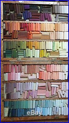 Soft pastels Handmade large studio box Unison, Terry Ludwig, Gerault